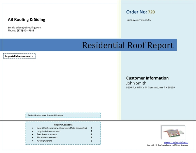 6) Upon Completing The Required Processes We Email You The Complete PDF Roof  Report.